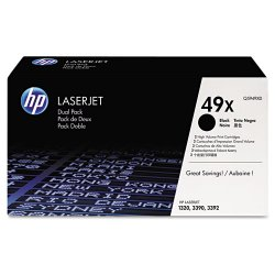 Hewlett Packard (HP) - Q5949XD - HP 49X (Q5949XD) 2-pack High Yield Black Original LaserJet Toner Cartridges - Laser - 6000 Page - 2 / Box