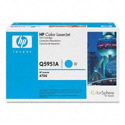 Hewlett Packard (HP) - Q5951A - HP 643A Original Toner Cartridge - Single Pack - Laser - Standard Yield - 10000 Pages - Cyan - 1 Each