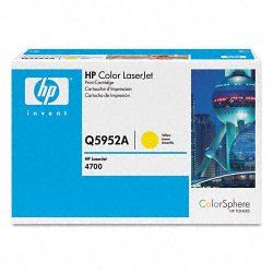 Hewlett Packard (HP) - Q5952A - HP 643A (Q5952A) Yellow Original LaserJet Toner Cartridge - Laser - 10000 Page - 1 Each