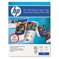 Hewlett Packard (HP) - Q6612A - HP Laser Print Brochure/Flyer Paper - Letter - 8 1/2 x 11 - 40 lb Basis Weight - Smooth, Glossy - 97 Brightness - 150 / Pack - White