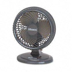 "Holmes / Patton - HAOF87BLZUC - Holmes Desk Fan - 203.2 mm Diameter - 2 Speed - Adjustable Tilt Head, Oscillating - 11.8"" Height x 8.8"" Width x 8"" Depth - Plastic - Black"