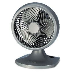 "Holmes / Patton - HAOF90UC - Holmes Blizzard Power Fan - 203.2 mm Diameter - 3 Speed - Adjustable Tilt Head, Oscillating - 14.4"" Height x 10.4"" Width x 10.6"" Depth - Charcoal"