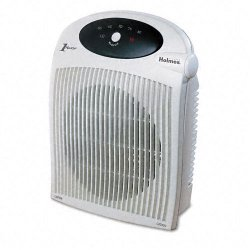 Holmes / Patton - HFH422-UM - 1500W Heater Fan w/ALCI Heater, Plastic Case, 10 1/4 x 6 1/2 x 12 1/2, White