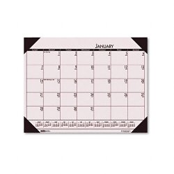 House of Doolittle - 12470 - Recycled EcoTones Sunrise Rose Monthly Desk Pad Calendar, 22 x 17, 2018
