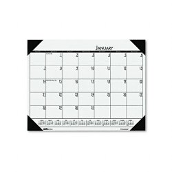 House of Doolittle - 12471 - Recycled EcoTones Woodland Green Monthly Desk Pad Calendar, 22 x 17, 2018