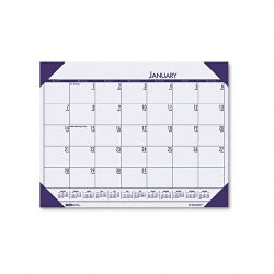 House of Doolittle - 12473 - Recycled EcoTones Sunset Orchid Monthly Desk Pad Calendar, 22 x 17, 2018