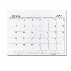 House of Doolittle - 126 - Recycled One-Color Dated Monthly Desk Pad Calendar Refill, 22w x 17h, 2018