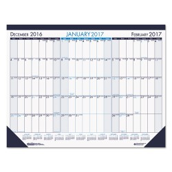 House of Doolittle - 136 - Three Month Desk Pad Calendar, 22 x 17, 2017-2019