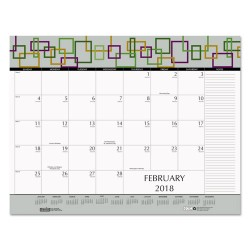 House of Doolittle - 149 - 100% Recycled Geometric Desk Pad Calendar, 22 x 17, 2018
