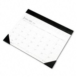 House of Doolittle - 15045101 - Recycled Two-Color Refillable Monthly Desk Pad Calendar, 22 x 18, 2018