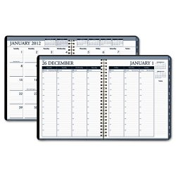 House of Doolittle - HOD28302 - Recycled Wirebound Weekly/Monthly Planner, 8 1/2 x 11, Black Leatherette, 2018