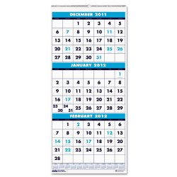 House of Doolittle - HOD3646 - Recycled Three-Month Format Wall Calendar, 8x17, 14-Month (Dec.-Jan.) 2016-2018