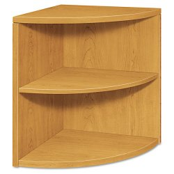 HON - H105520.CC - 10500 Series Two-Shelf End Cap Bookshelf, 24w x 24d x 29-1/2h, Harvest