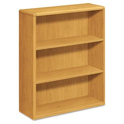 HON - H10753.CC - 10700 Series Wood Bookcase, Three Shelf, 36w x 13 1/8d x 43 3/8h, Harvest