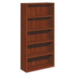 HON - H10755.COGN - 10700 Series Wood Bookcase, Five Shelf, 36w x 13 1/8d x 71h, Cognac