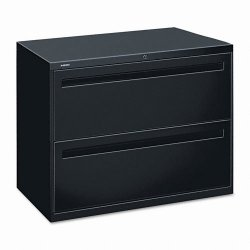 HON - 782LP - 700 Series Two-Drawer Lateral File, 36w x 19-1/4d, Black