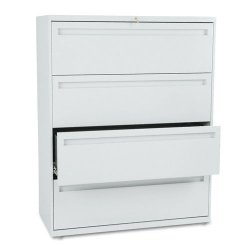 HON - H794.L.Q - 700 Series Four-Drawer Lateral File, 42w x 19-1/4d, Light Gray