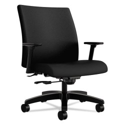 HON - HIWM8.A.A.U.NT10.T - Ignition Series Big & Tall Mid-Back Work Chair, Black Fabric Upholstery