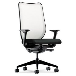 HON - N102NT10 - Nucleus Series Work Chair, Fog ilira-stretch M4 Back, Black Seat