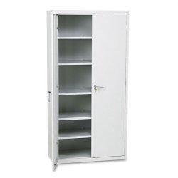 HON - SC1872Q - Assembled Storage Cabinet, 36w x 18-1/4d x 71-3/4h, Light Gray