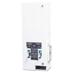 Hospital Specialty - 1-25 - Dual Sanitary Napkin/Tampon Dispenser, Coin, Metal, 10 x 6 1/2 x 26 1/4, White