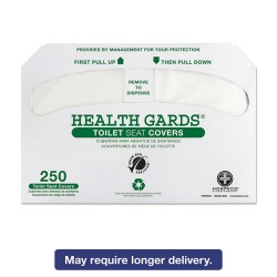 Hospital Specialty - HOS GREEN-1000 - Health Gards Green Seal Recycled Toilet Seat Covers, White, 250/PK, 4 PK/CT