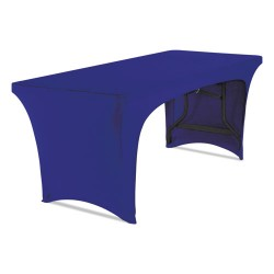 Iceberg - 16546 - Stretch-Fabric Table Cover, Polyester/Spandex, 30 x 72, Blue