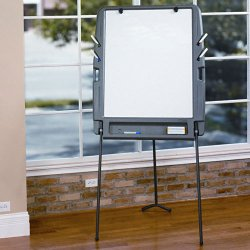 Iceberg - 30227 - Gloss-Finish Melamine Dry Erase Board, Portable/Carry, 34H x 35