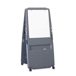 Iceberg - 30237 - Gloss-Finish Melamine Dry Erase Board, Mobile/Casters, 34H x 33