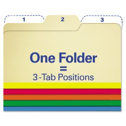 "IdeaStream - FT07070 - Find It All Tab Assorted Color Folders - Letter - 8 1/2"" x 11"" Sheet Size - 1/3 Tab Cut - Assorted - 80 / Pack"