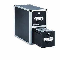 IdeaStream - VZ01094 - Vaultz Disc Locking CD/DVD Cabinets - 8.5 Height x 15 Width x 14 Depth - Black