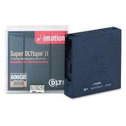 Imation - 16988 - Imation BlackWatch SuperDLTtape II Cartridge - Super DLTtape II - 300 GB (Native) / 600 GB (Compressed) - 1 Pack
