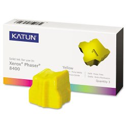 Katun - 38706 - Katun 38706 (108R00607) Xerox Compatible Phaser 8400 Solid Ink Sticks - Yellow - Solid Ink - 3400 Page - 3 / Box