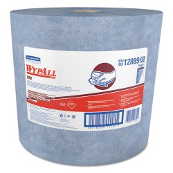 Kimberly-Clark - 12889 - Wypall WypAll X90 Jumbo Roll Cloths - 11.80 x 12.60 - Denim Blue - Cloth - Durable, Cleaning, Absorbent, Soft, Strong, Reusable, Low Linting - For Food Service - 450 / Carton