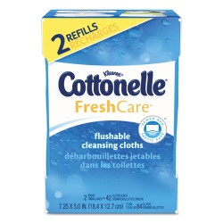 Kimberly-Clark - KCC 35970CT - Fresh Care Flushable Cleansing Cloths, White, 3.73 x 5.5, 84/Pack, 8 Pk/Ctn
