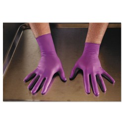 Kimberly-Clark - 50603 - Kimberly-Clark Professional PURPLE NITRILE-XTRA Exam Gloves - Large Size - Nitrile, Polyethylene, Natural Rubber - Purple - Durable, Tear Resistant, Textured Fingertip, Beaded Cuff, Latex-free - For Chemotherapy - 500 / Carton