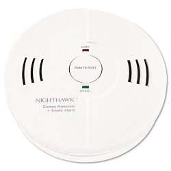 Kidde Fire and Safety - 9000102 - Kidde Nighthawk KN-COSM-B Combo Smoke/Carbon Monoxide Alarm - 85 dB - Flashing LED - Security Alarm - White