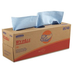 Kimberly-Clark - 05740 - Wypall L40 Cloth-like Wipes - 9.80 x 16.40 - Blue - Absorbent, Strong, Soft - For Hand, Face, Industry - 9 / Carton
