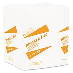 Kimberly-Clark - 05790 - Wypall L40 Cloth-like Wipes - 9.80 x 16.40 - White - Absorbent, Wet Strength, Soft - For Face, Hand - 100 Sheets Per Box - 9 / Carton