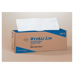"Kimberly-Clark - 05816 - Wypall L30 Light Duty Wipers - 9.80"" x 16.40"" - White - Light Duty, Soft - For General Purpose - 6 / Carton"