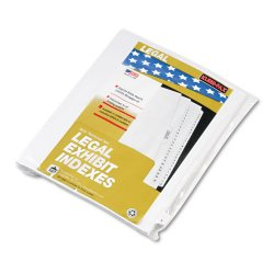 Kleer-Fax - 80025 - 80000 Series Legal Index Dividers, Side Tab, Printed Y, White, 25/Pack