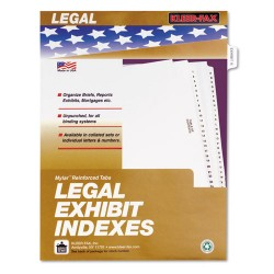 Kleer-Fax - 81002 - 80000 Series Legal Index Dividers, Side Tab, Printed Exhibit B, 25/Pack