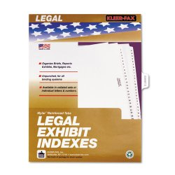 "Kleer-Fax - 81005 - 80000 Series Legal Index Dividers, Side Tab, Printed ""Exhibit E"", 25/Pack"