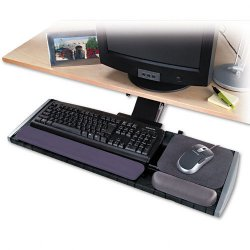 "Kensington - 60067 - Kensington Underdesk Adjustable Keyboard Platform - 0.8"" Height x 30.5"" Width x 10.3"" Depth - Black"