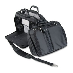 Kensington - K62220D - Contour 15.6 Laptop Carrying Case, Nylon, 16-1/2 x 6-1/2 x 12-1/2, Black