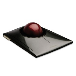 Kensington - 72327 - SlimBlade Trackball, Graphite w/Ruby Red Trackball