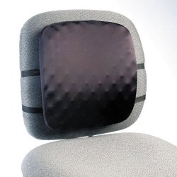 Kensington - L82021B - Kensington Half-Back Back Pad - Washable, Adjustable Strap - Strap Mount - 12 x 2 x 14 - Black