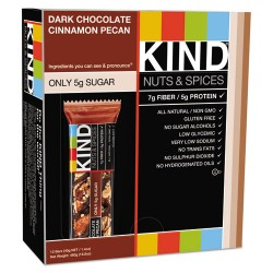 KIND - 17852 - Nuts and Spices Bar, Dark Chocolate Cinnamon Pecan, 1.4 oz, 12/Box