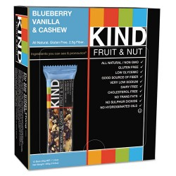 KIND - 18039 - Fruit and Nut Bars, Blueberry Vanilla and Cashew, 1.4 oz Bar, 12/Box