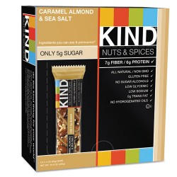 KIND - 18533 - Nuts and Spices Bar, Caramel Almond and Sea Salt, 1.4 oz Bar, 12/Box